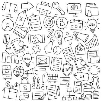 Elementos de doodle de negócios
