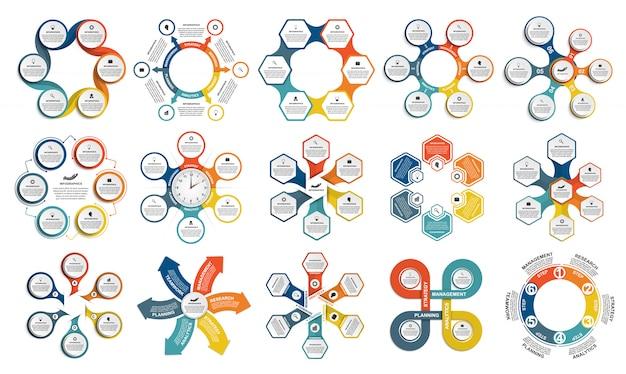 Elementos de elementos de infográficos de coleção