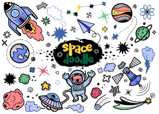 Elementos de espaço desenhado de mão