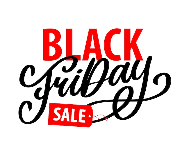 Elementos de estilo retro do black friday calligraphic designs