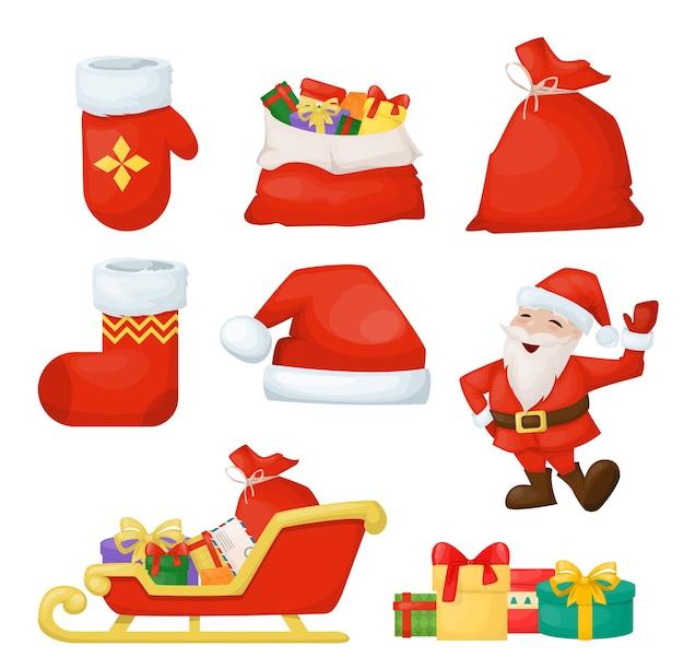 Elementos de férias de feliz natal. feriados de ano novo.