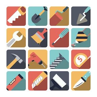Elementos de ferramentas de reparo em casa