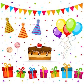Elementos de festa de aniversário