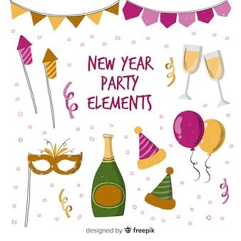 Elementos de festa de ano novo
