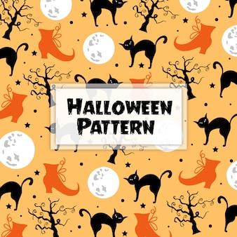 Elementos de halloween aquarela fundo
