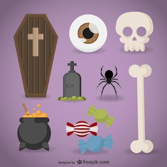 Elementos de halloween embalar