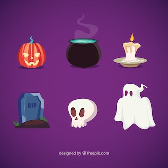 Elementos de halloween ilustração
