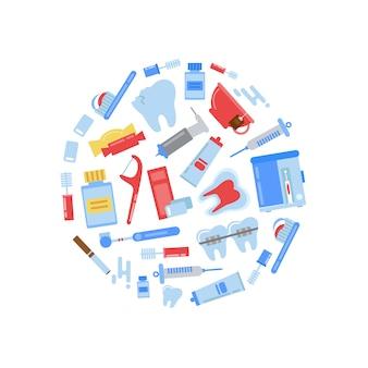 Elementos de higiene dos dentes