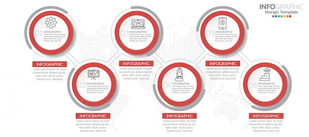 Elementos de infográfico com ícone e opção.