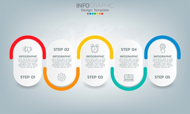 Elementos de infográfico de cronograma de negócios com opções