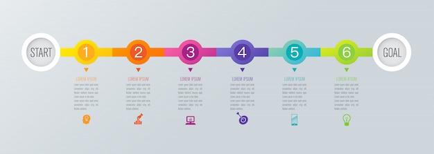 Elementos de infográfico de cronograma