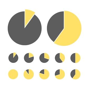 Elementos de infográfico de diagrama de processo de fluxo de negócios de gráfico de pizza para apresentação