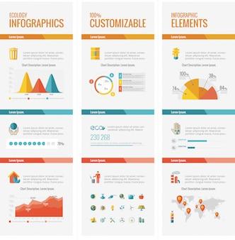 Elementos de infográfico de ecologia