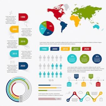 Elementos de infográfico de mercado de negócios