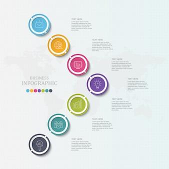 Elementos de infográfico de negócios coloridos