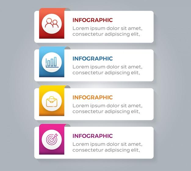 Elementos de infográfico de negócios de etapas