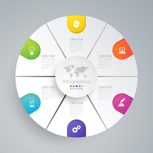 Elementos de infográfico de negócios para a apresentação