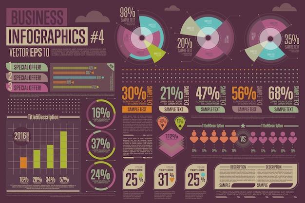 Elementos de infográfico de negócios.