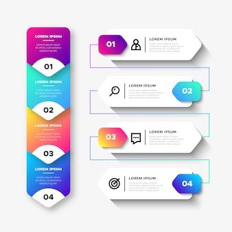 Elementos de infográfico de negócios