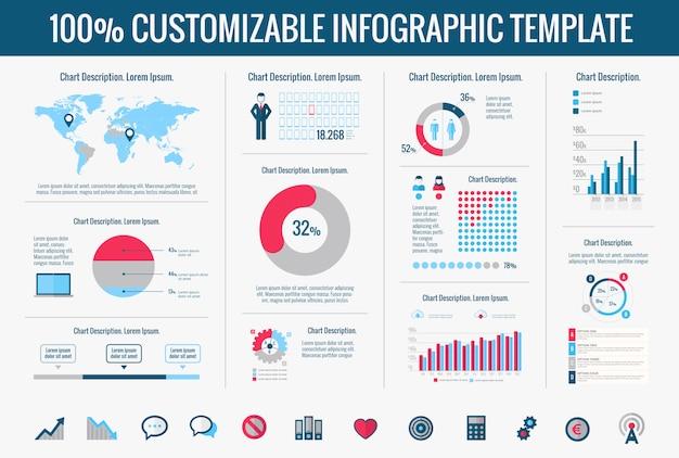 Elementos de infográfico de tecnologia