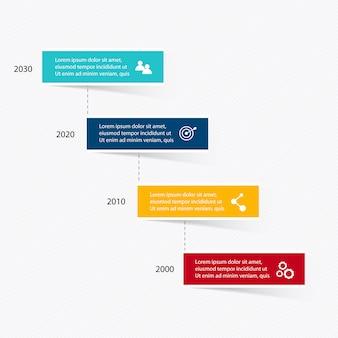Elementos de infográfico em estilo moderno plano empresarial.
