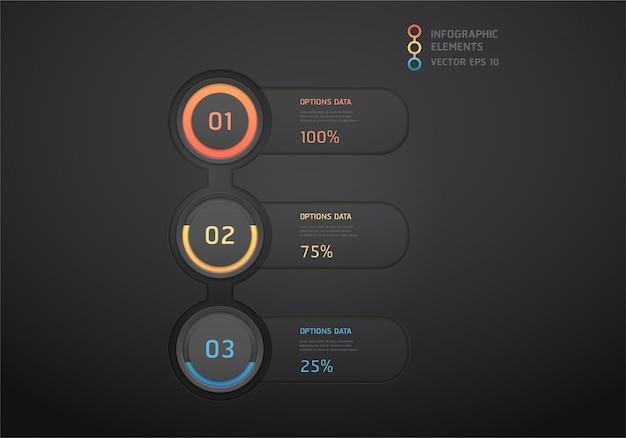 Elementos de infográfico - gráficos de barras e linhas