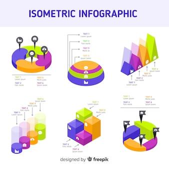 Elementos de infográfico isométrica