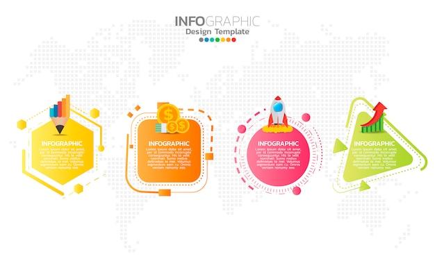 Elementos de infográfico para conteúdo.