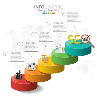 Elementos de infográfico para o conteúdo, linha do tempo, fluxo de trabalho, gráfico.