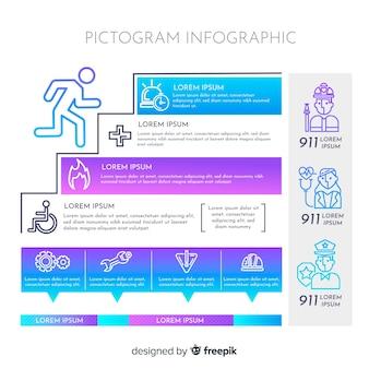 Elementos de infográfico pictograma