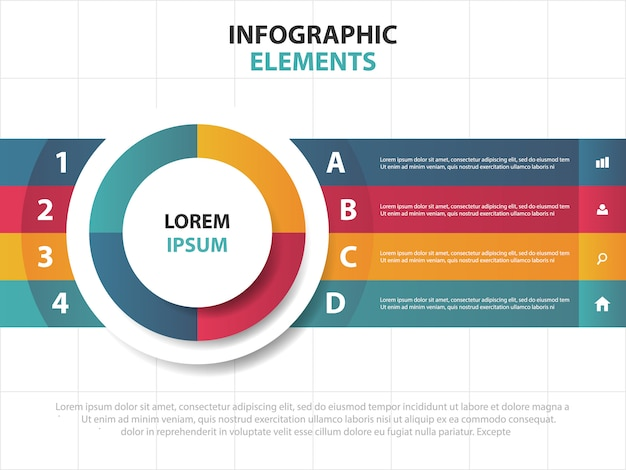 Elementos de infográficos de círculo empresarial