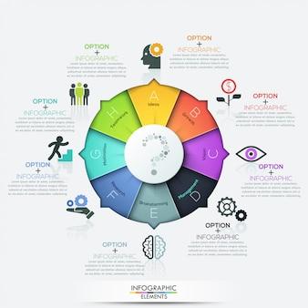Elementos de infográficos de negócios seta moderna
