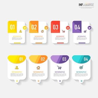 Elementos de infográficos de negócios