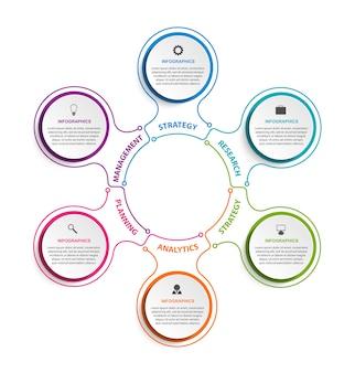 Elementos de infográficos de opções de negócios