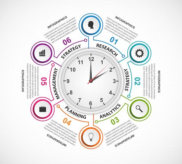 Elementos de infográficos de opções