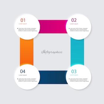 Elementos de infográficos em estilo moderno plano empresarial.