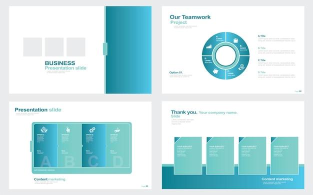Elementos de infográficos para apresentações modelos de ilustração de ações modelo de apresentação de slides