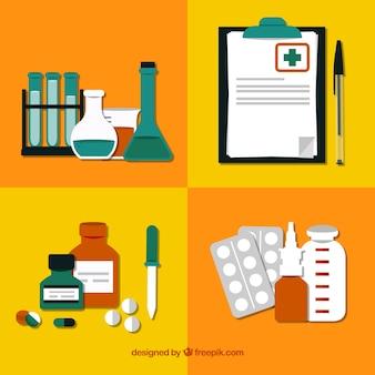 Elementos de laboratório farmácia