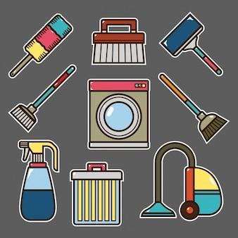 Elementos de limpeza de design