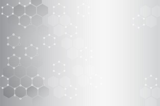 Elementos de malha molecular em cinza