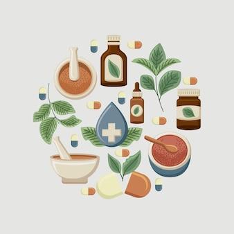 Elementos de medicina alternativa em torno