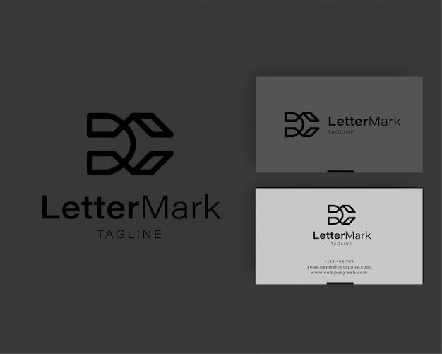 Elementos de modelo carta dc logotipo ícone design