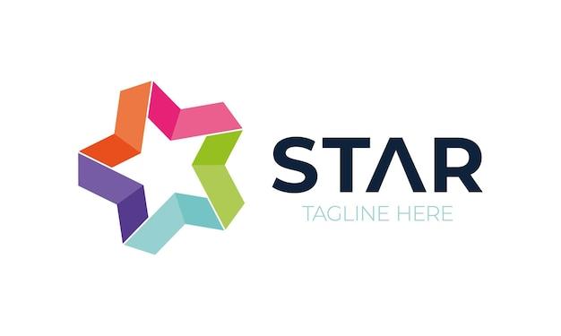 Elementos de modelo de design de ícone de logotipo de estrela abstrata.