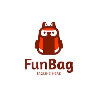 Elementos de modelo de design de logotipo divertido ícone