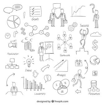 Elementos de negócios esboçado