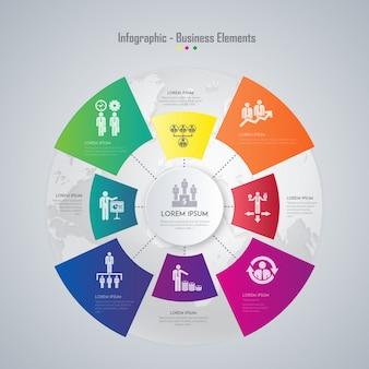 Elementos de negócios infográfico