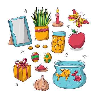 Elementos de nowruz irã