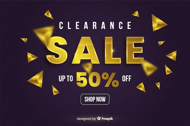 Elementos de ouro preto banner de vendas