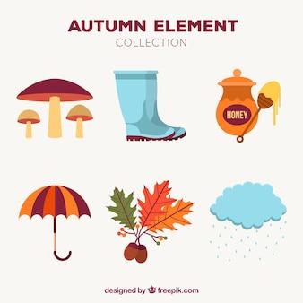 Elementos de outono com estilo moderno