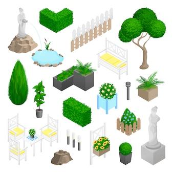 Elementos de paisagem jardim parque